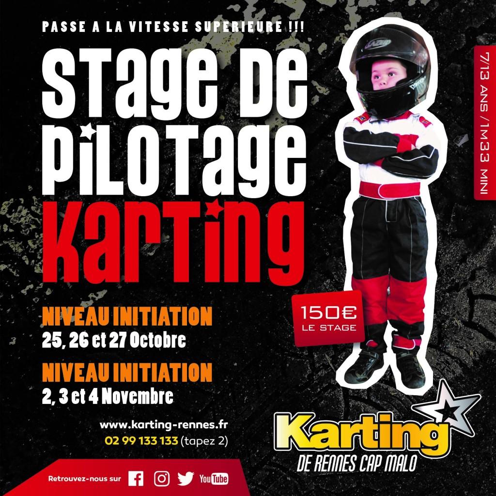 Stage de pilotage karting rennes octobre 2021