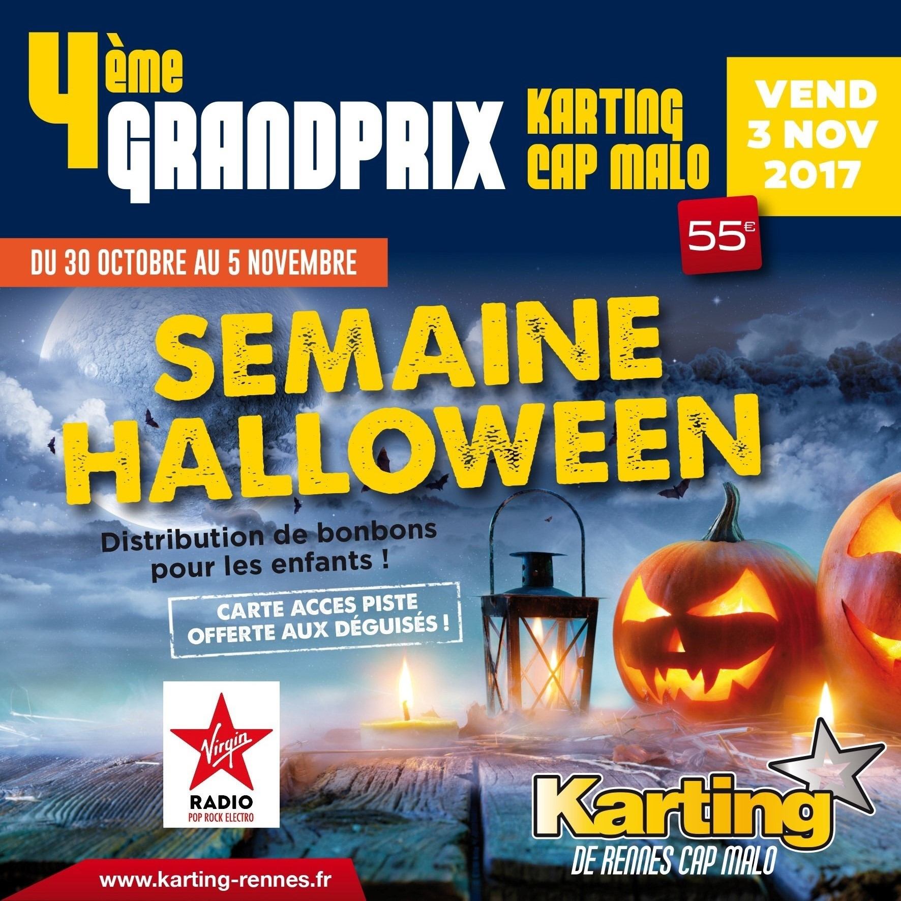 promo karting rennes halloween 2017