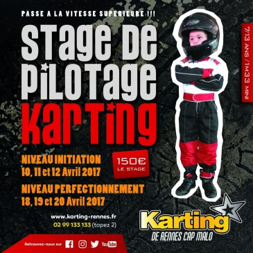 Stage de Pilotage Karting, avril 2017