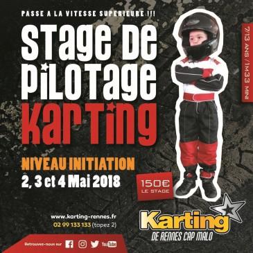 stage de pilotage karting de rennes mai 2018